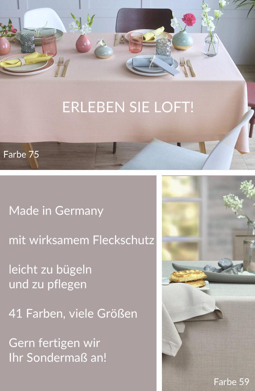 Sander Serie LOFT _ Tischdecken, Tischläufer, Kissen und Co.