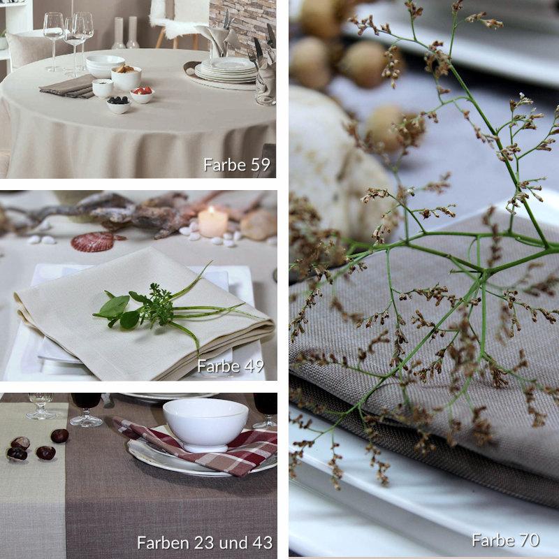 Tischdecken braun, braune Tischdecken, Tischdecken natur