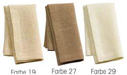 Linea Tischwäsche von Sander Farben 19, 27 und 29