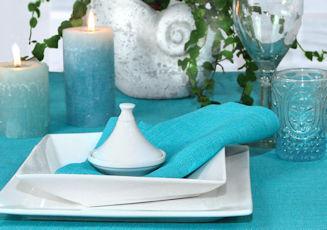Tischdecke aqua