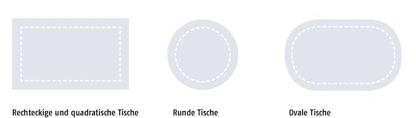 Sondermaße Sander Tischdecken