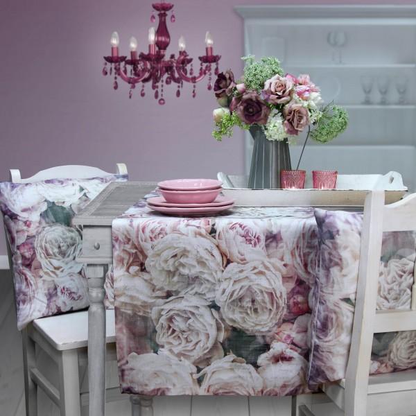 Tischläufer VINTAGE ROSE Leinen mit Rosen (0)