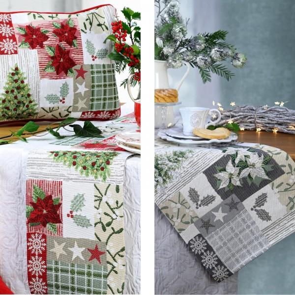 Tischläufer Weihnachten X-MAS PATCH Gobelin (0)