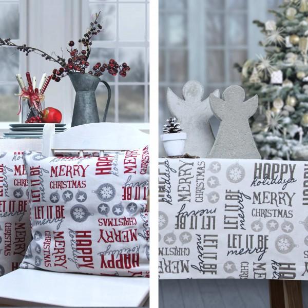 Weihnachtstischdecke LET IT BE 150x250cm (0)