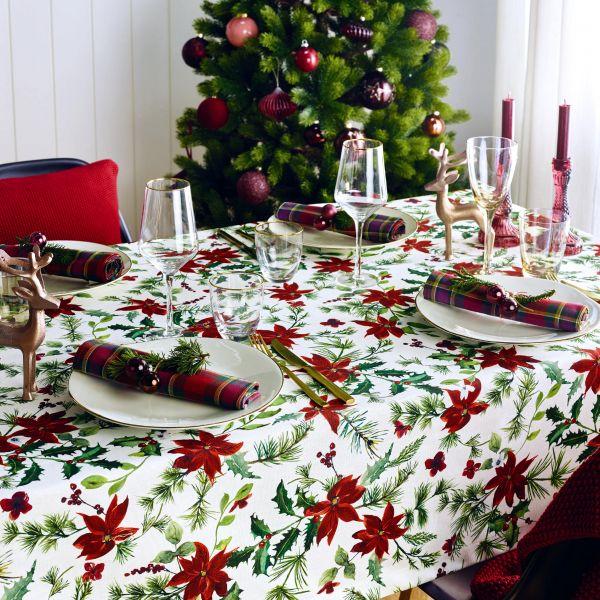 Tischläufer Weihnachten X-MAS GREENERY