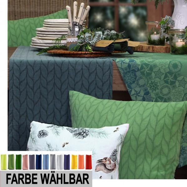 Tischläufer BRAID 40x150cm, Farbe 72-grashopper (0)