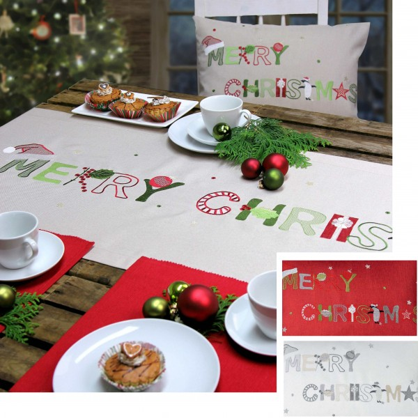 Weihnachtsmitteldecke CHRISTMAS DAY 85x85cm, Farbe 29-ecru (0)