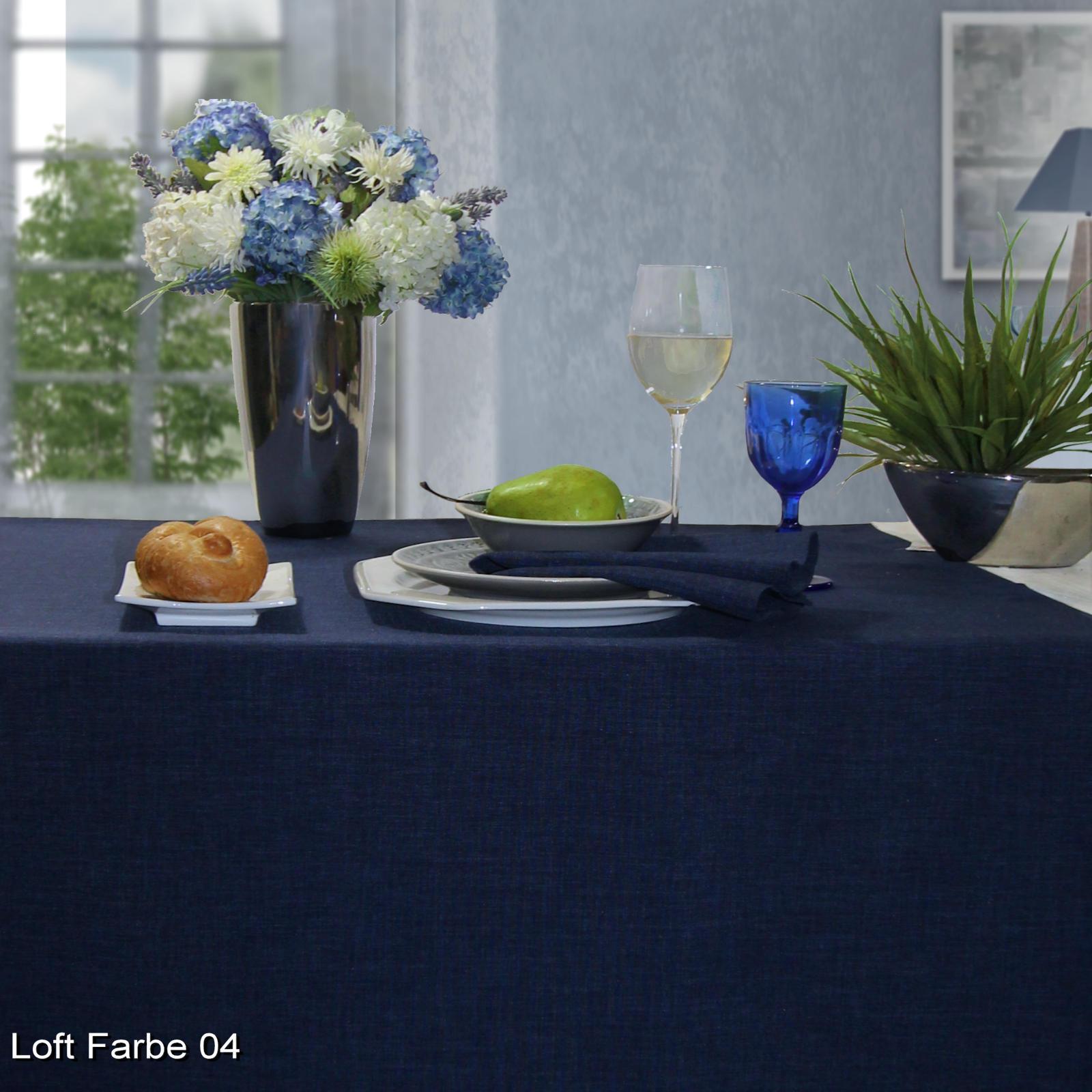Tischdecke dunkelblau