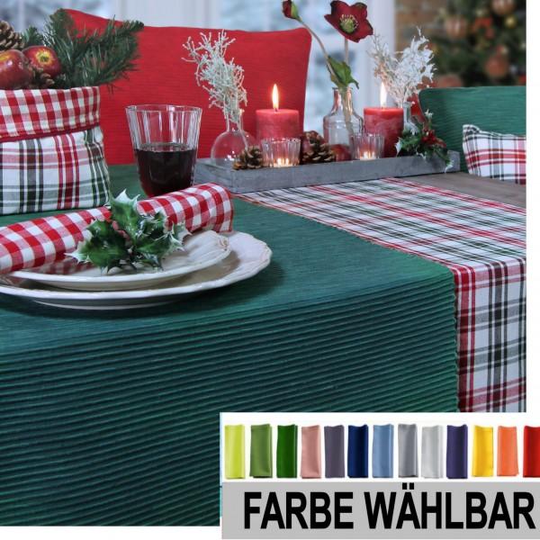 EINZELSTÜCK! Tischläufer BREEZE 50x140cm, Farbe 32-schilfgrün (0)