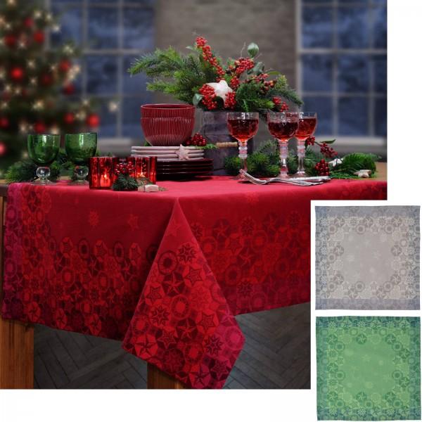 6 Servietten Weihnachten LES ETOILES silber (0)