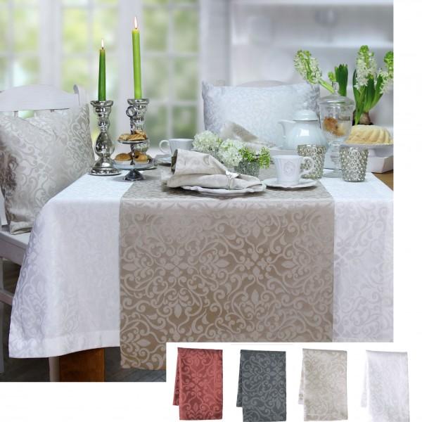 Tischläufer ORNAMENTS Farbe marsala (0)