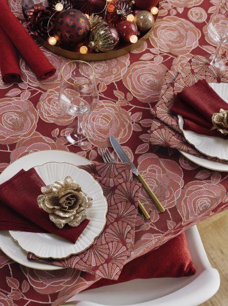Tischdecke WINTER ROSE