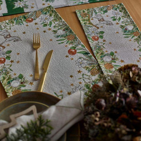 Tischband/Tischläufer Gobelin CHRISTMAS FRAME