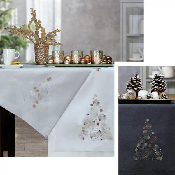 weihnachtliche Mitteldecke Balls and Trees von Sander (0)