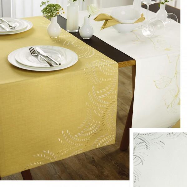 exklusives Tischband/Tischläufer GRAIN mit handgeführter Stickerei (0)