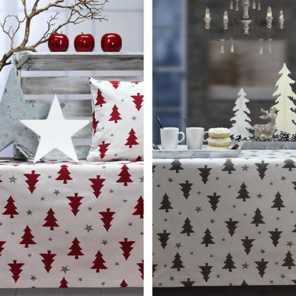 Weihnachtstischdecke STARS AND TREES (0)