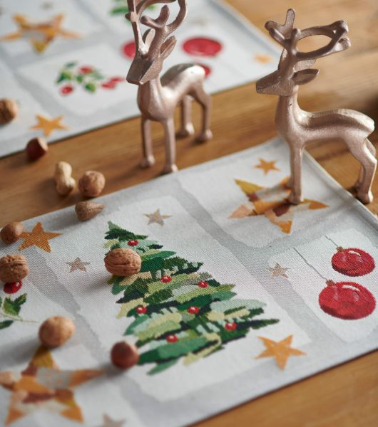 2 Tischsets Gobelin MY CHRISTMAS