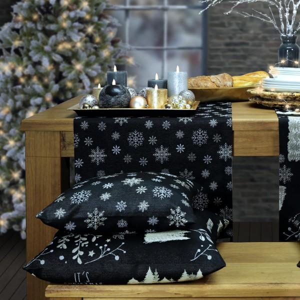 kleine Tischdecke Weihnachten THEODORE schwarz (0)