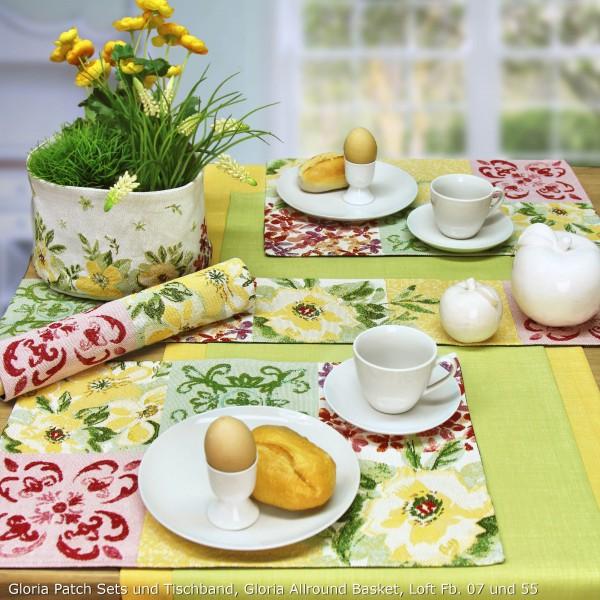 Tischläufer GLORIA PATCH Blumen (0)