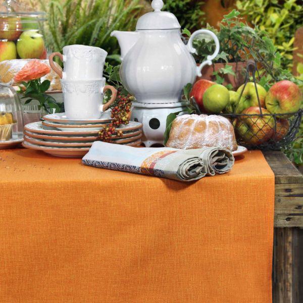 BISTRO ALLEGRO Tischdecke 150cm rund, Farbe 22 orange