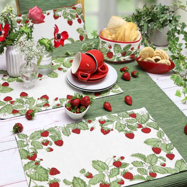 Tischband/Tischläufer STRAWBERRIES