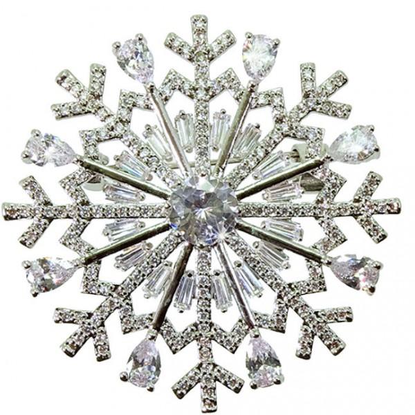Weihnachtsbrosche Schneeflocke SILVER SNOWFLAKE (0)