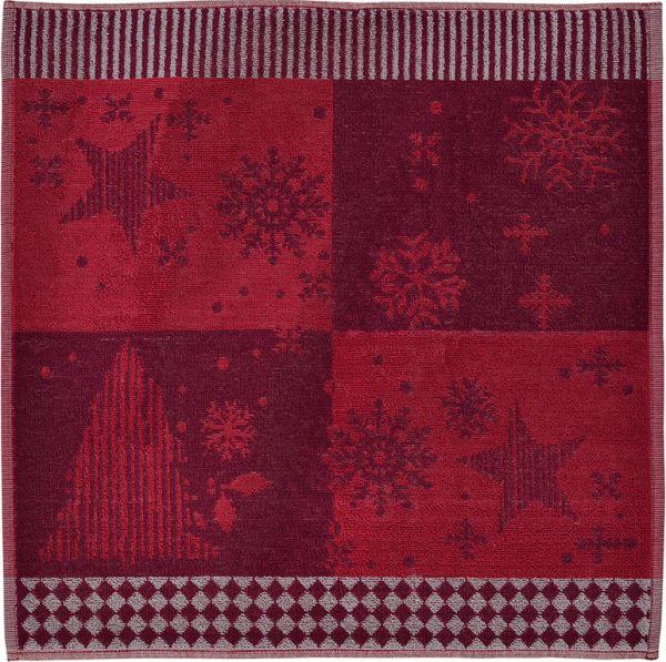 2x Frottiertuch Weihnachten FAIRBANKS rot