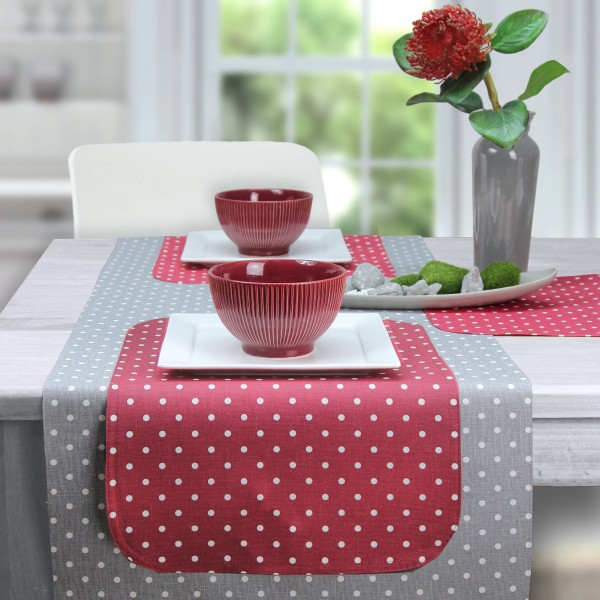 BISTRO PUNTINO Tischdecke abwaschbar 135x220cm, Farbe 1-rot (0)