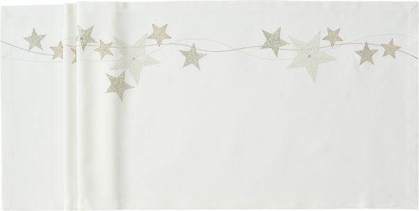 exklusive Mitteldecke FALLING STARS mit handgeführter Stickerei