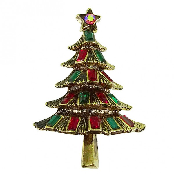 Weihnachtsbrosche Tannenbaum SILENT NIGHT (0)