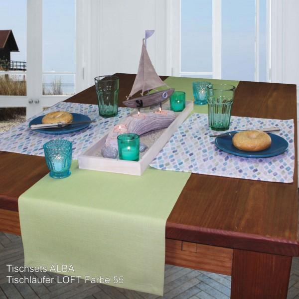2 Tischsets ALBA, Farbe 67-aqua (0)