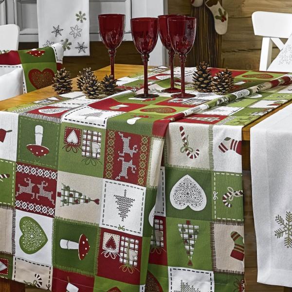 Tischläufer X-MAS PATCH Weihnachten 50x140cm (0)