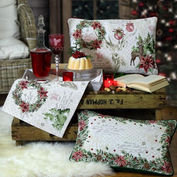 Gobelin Tischläufer Weihnachten X-MAS ROMANCE (0)