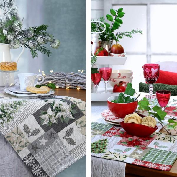2 Sander Gobelin Tischsets Weihnachten X-Mas Patch (0)