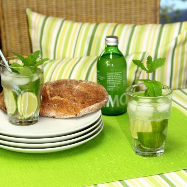 BISTRO ALLEGRO Tischdecke abwaschbar, 170cm rund, Farbe 37-limone (0)