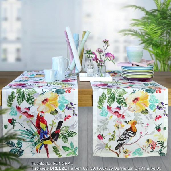 Tischläufer FUNCHAL mit Vögeln (0)