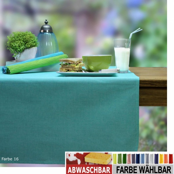 BISTRO ALLEGRO Tischläufer abwaschbar, 50x140cm, Farbe 16-aqua/mint (0)