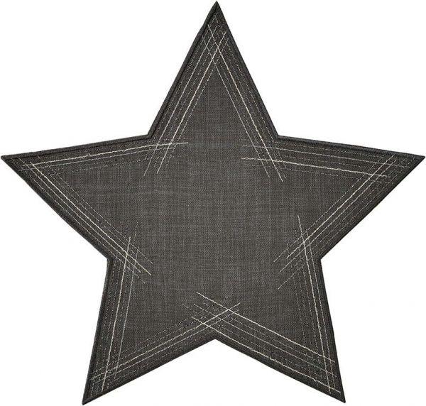 2 exklusive Deckchen Sterne STARRY NIGHT mit handgeführter Stickerei