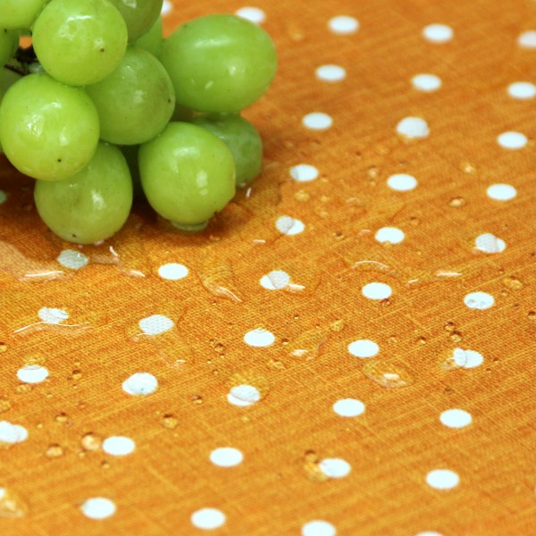 BISTRO PUNTINO Tischdecke abwaschbar 170cm rund, Farbe 22-orange (0)