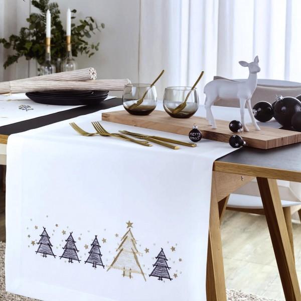 Mitteldecke Weihnachten GOLDEN TREES (0)