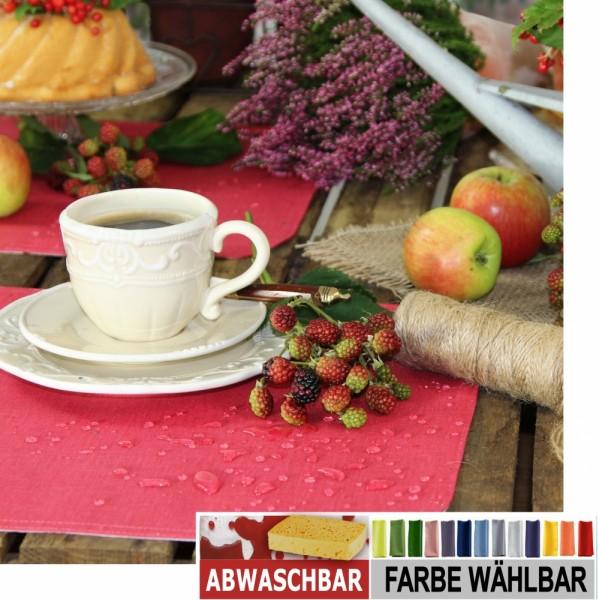 BISTRO ALLEGRO 6 Tischsets abwaschbar,35x50cm OVAL, Farbe 1-rot (0)