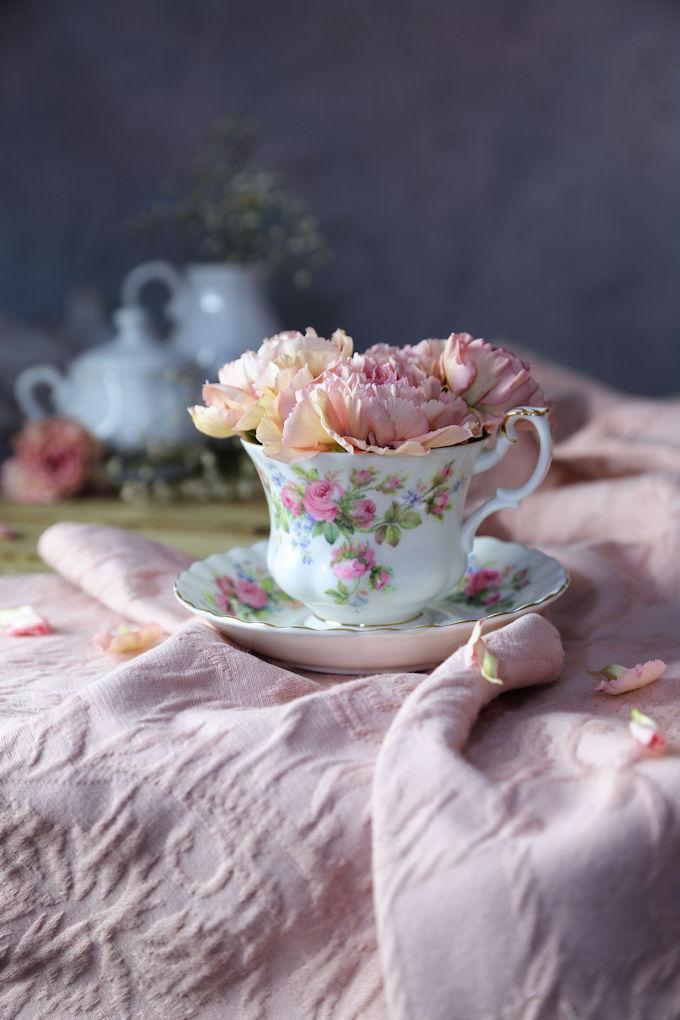 Tischdecke rosa Shabby Chic