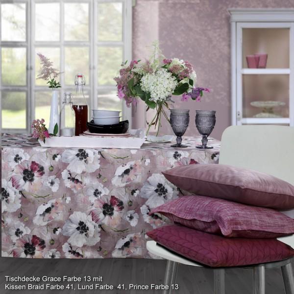 Tischläufer GRACE mit Leinen, Farbe 13-malve (0)