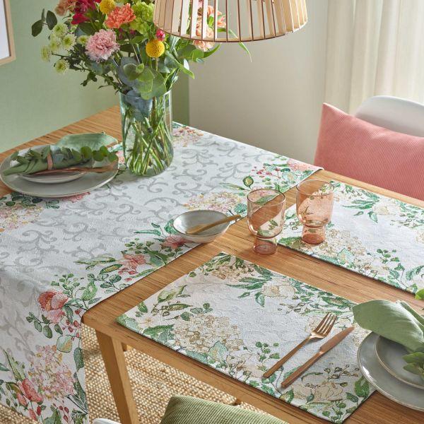 2 Tischsets Gobelin LOVE FLOWERS