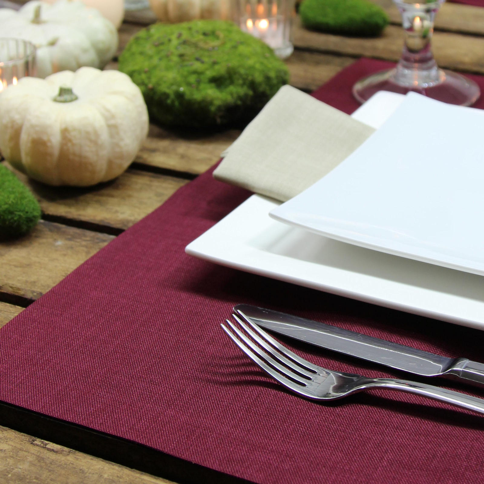 Tischsets mit Fleckchutz