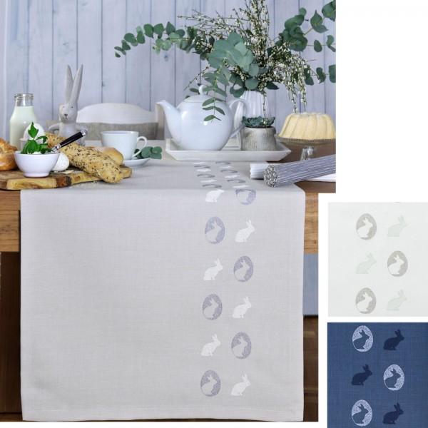 Tischläufer MORE RABBITS mit handgeführter Stickerei (0)