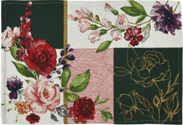 2 Gobelin Tischsets IN BLOOM PATCH